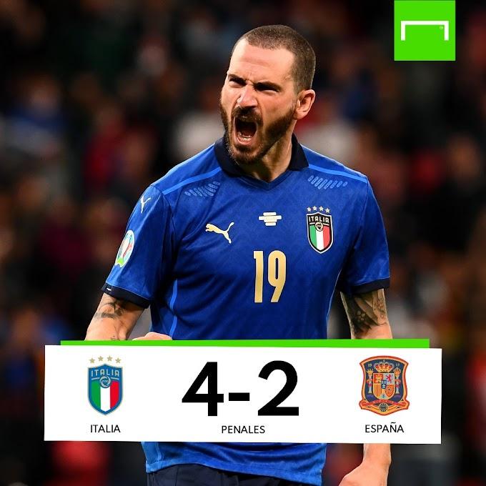 ⭕ ÚLTIMA HORA | Italia es la primera finalista de la Euro 2020 tras vencer a España en los penaltis.