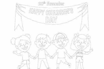 Seri Mewarnai : Hari Anak Internasional. Kualitas HD
