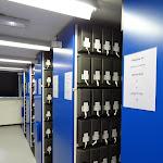 Archives de Paris : salle de stockage