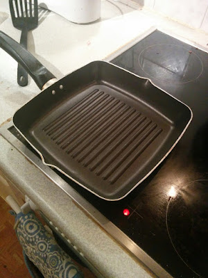 Frying pan on cooker