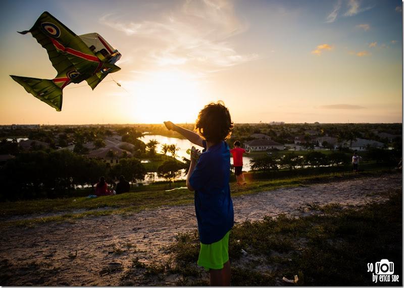 Kite Sunset silhouette-8596