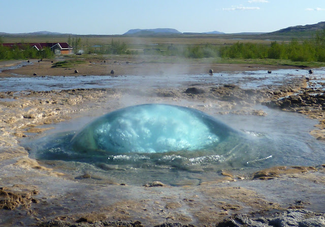 Stokkur geyser about to explode