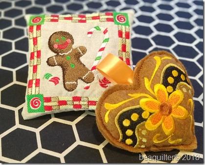 ITH gingerbread pincushion