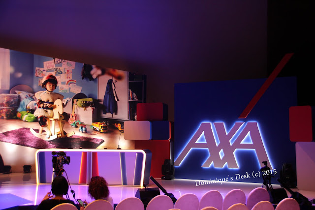The set for the event launch for AXA Family Advantage