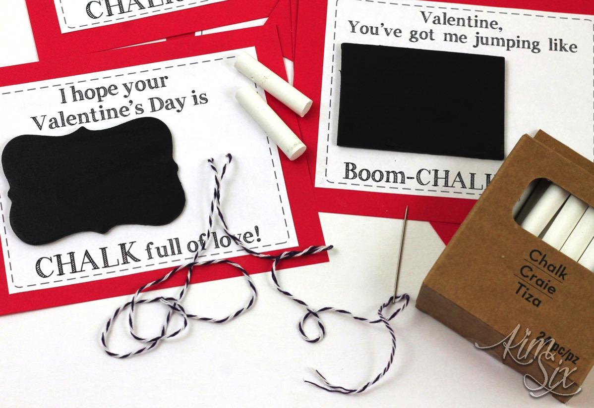 Chalk valentine