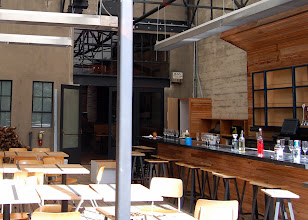 Photo: The restaurant's exterior patio is heated and has its own bar