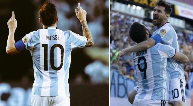 argentina 4 1 highlights copa america