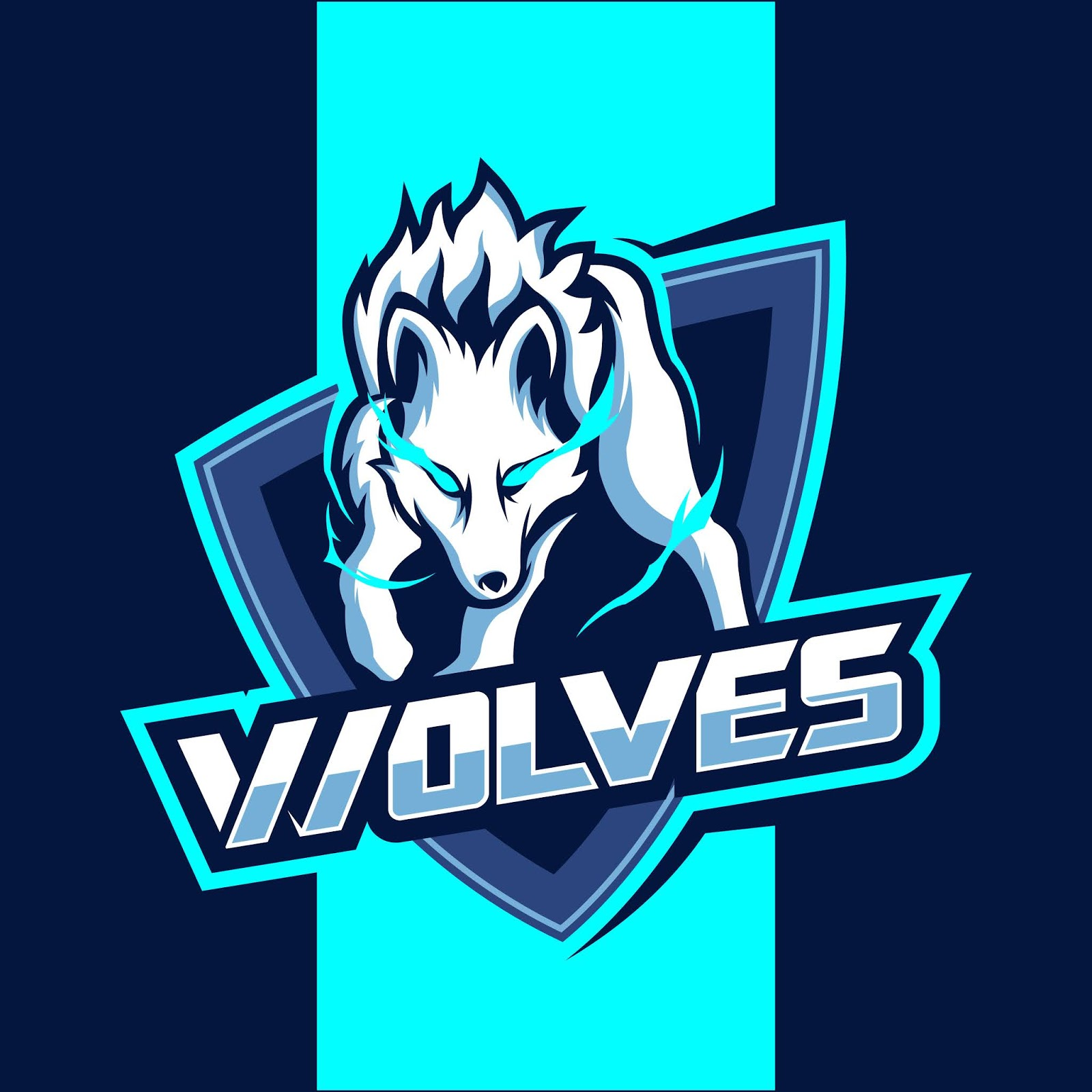 White Wolves Mascot Esport Logo Design Free Download Vector CDR, AI, EPS and PNG Formats