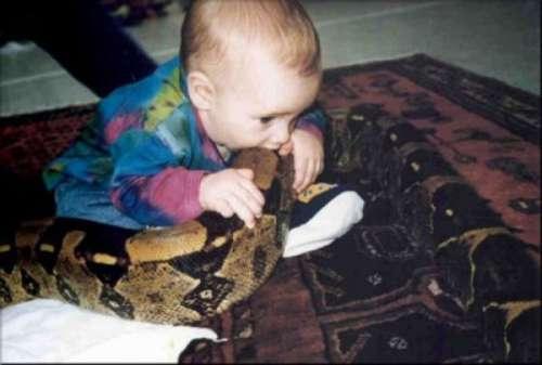baby eat snake