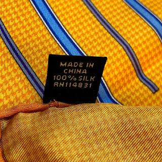 Saks Fifth Avenue 4-Print Yellow Pocket Square