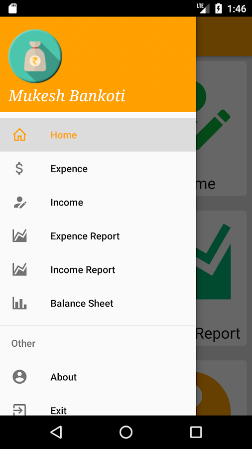 My Expense Manager- screenshot
