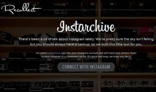 Instarchive te permite descargar las fotos de Instagram en un ZIP