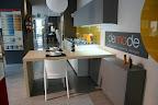 cucina DeMode modello Forma - Valcucine nell'esposizione di Zogno (Bergamo).