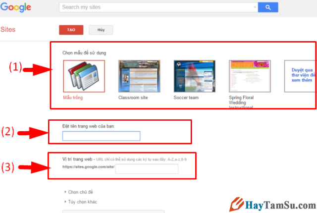 Google Sites là gì? Hướng dẫn cách tạo website miễn phí với Google Sites + Hình 4
