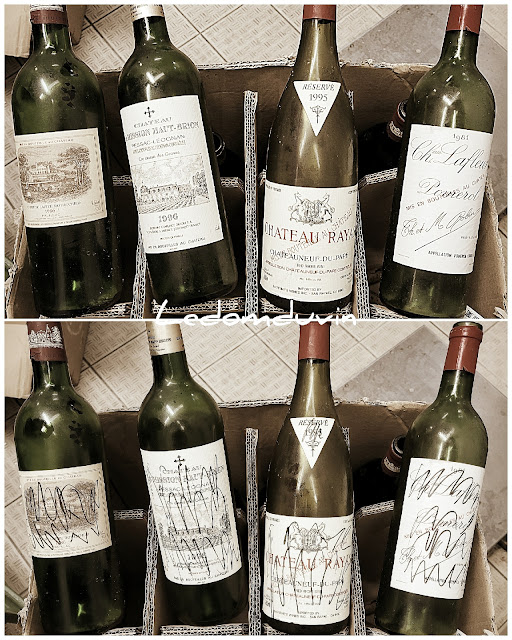 Discarding expensive empty bottles of wine by and for ©LeDomduVin 2021 (2)