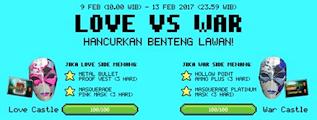 Informasi Dan Cara Mengikuti Event LOVE vs WAR PB Garena Indonesia