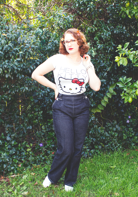 Hello Kitty graphic tee with Freddies of Pinewood jeans | Lavender & Twill