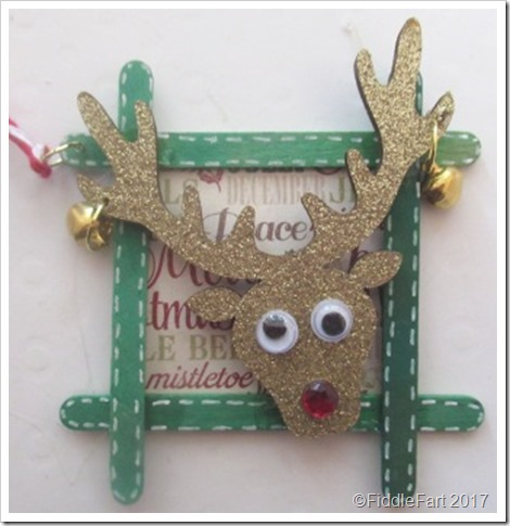 Reindeer Tag using Craft Sticks