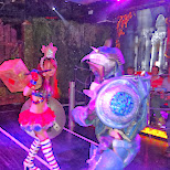fights at the Robot Restaurant in Kabukicho in Kabukicho, Tokyo, Japan