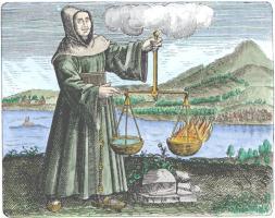 Roger Bacon From Maier Symbola Aurea Mensae Franckfurt 1617, Alchemical And Hermetic Emblems 1