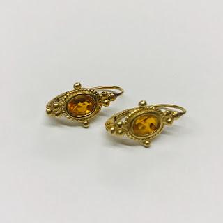 14K Gold and Topaz Earrings