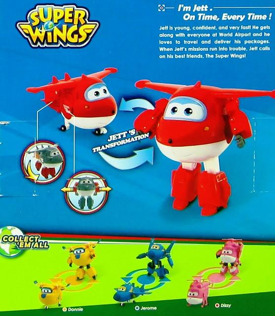 Máy bay Jett Tia chớp biến hình Robot cỡ lớn dựa theo phim Đội Bay Siêu Đẳng Super Wings