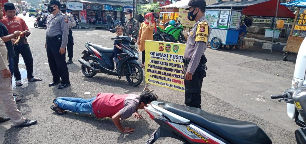 Polsek Wanayasa Semakin Gencar Melakukan Operasi Yustisi di Wilayah Hukumnya