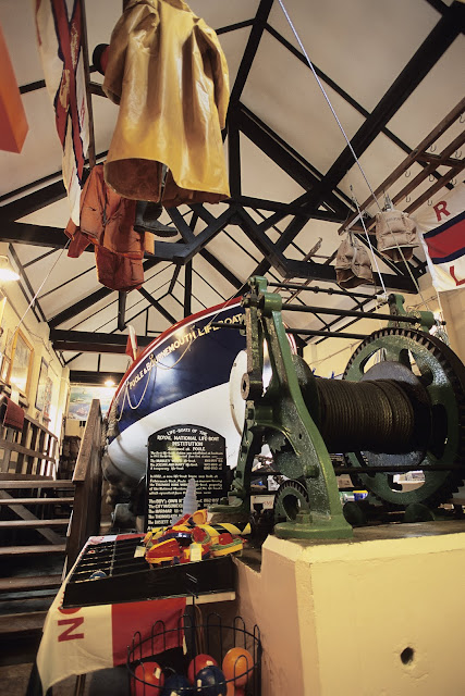 Exhibits within Poole Old Lifeboat Museum