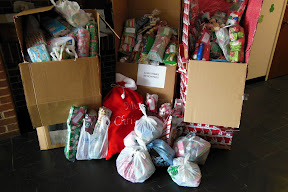 Christmas Stockings being collected