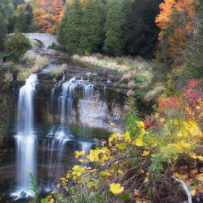 waterfalls in autumn by Morris Fremar - Landscapes Waterscapes