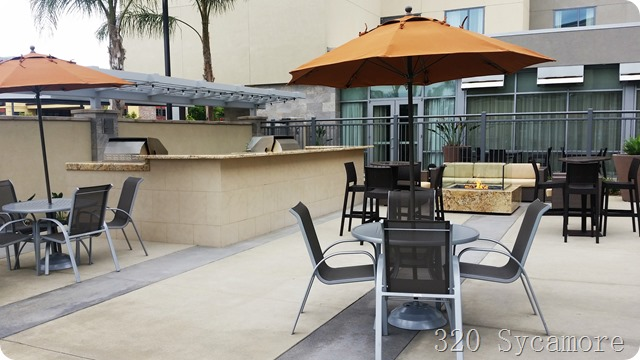 homewood suites anaheim bbq and firepit