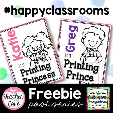 Get your kiddos to print like princes and princesses
