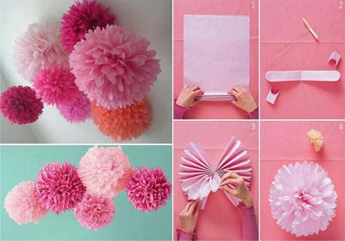 how to make tissue paper balls