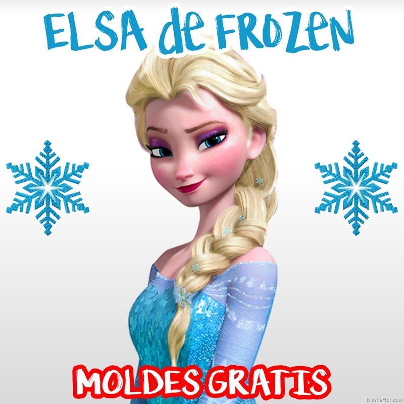 Molde: Elsa de Frozen – Centro de Mesa (Parte 2/2)