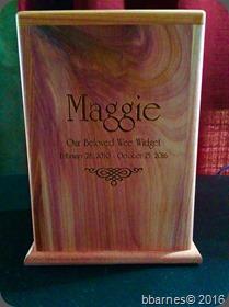 Maggie's urn 11022016