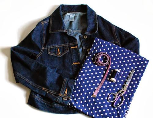 customização de jaqueta com punho de bolinha