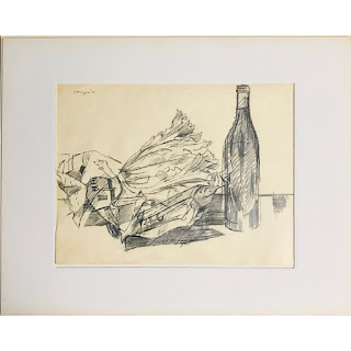 Ettinger Signed Still Life Drawing