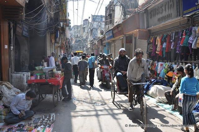 Une rue du vieux Delhi