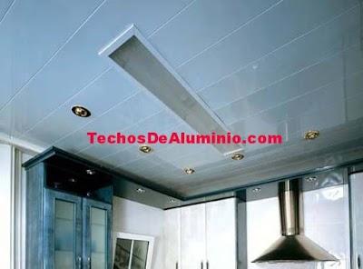 Precio economico techos de aluminio para cocinas Madrid