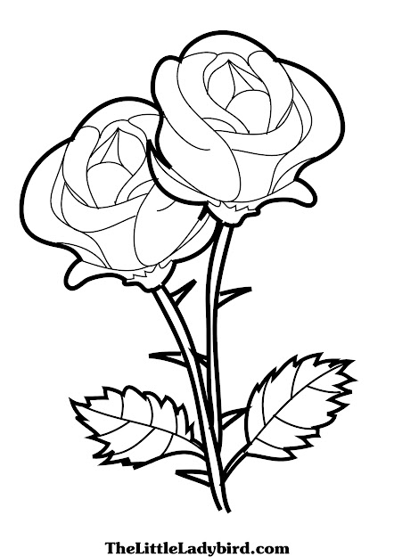 Coloring Pages Of Roses And Hearts New