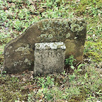 The orginial tombstone of Robert Hughes Gleaves the first grave in the cemetery.
