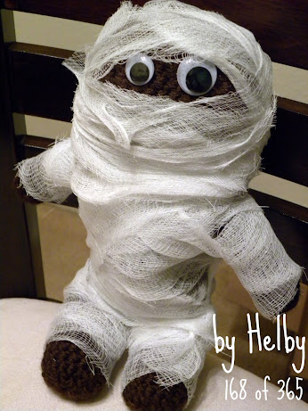 Crochet mummy