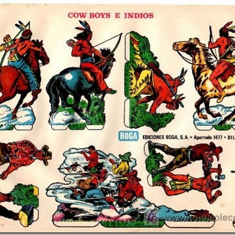 cowboys e indios recortables