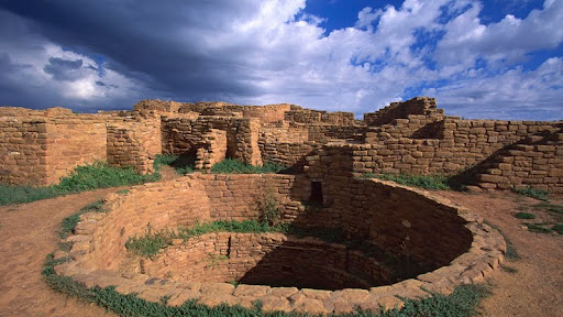 Pueblo Indian Dwellings, Built Around 1200 A.D., Mesa Verde National Park, Colorado.jpg