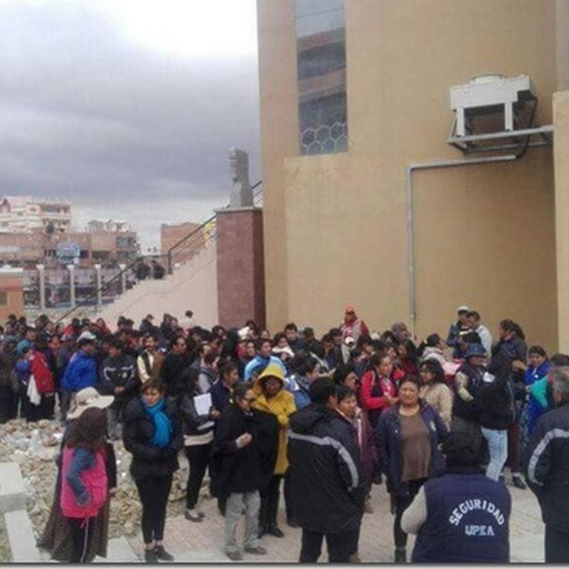 Trabajadores de la UPEA determinan un paro de 72 horas