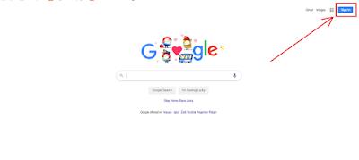 انتقل إلى صفحة تسجيل الدخول إلى google