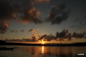 2011/09/11の夕日です。夏の日の夕日ですね