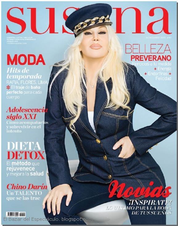 Chino darin en revista susana noviembre 2015 tapa y for Revistas de chismes del espectaculo
