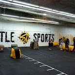 battle sports: archery tag in Toronto, Ontario, Canada