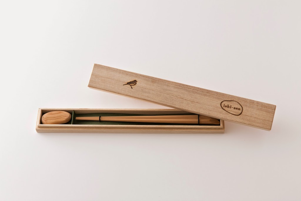 Compressed Hinoki Chopsticks and Rest Set Ishi-zen